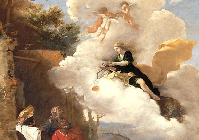 羊飼いに別れを告げるアストライアス
