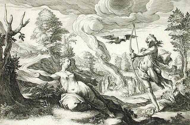 アポロン神とコロニス
