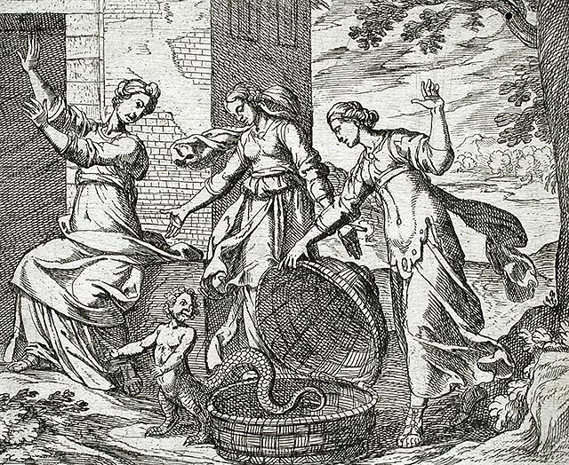 エリクトニオスとケプロクス王の3人の娘
