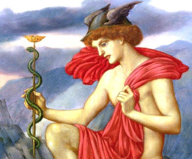 ケーリュケイオンの杖を持つメルクリウス(ヘルメス)