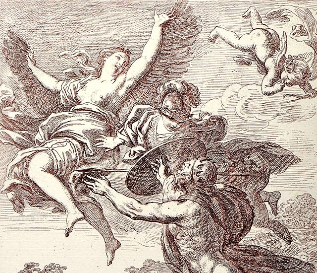 ネプトゥヌスと小鴉になったコロニス