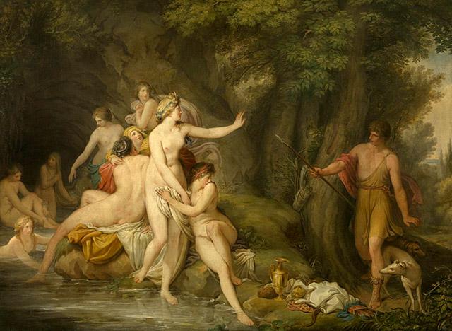 女神ディアナ(アルテミスとアクタイオン