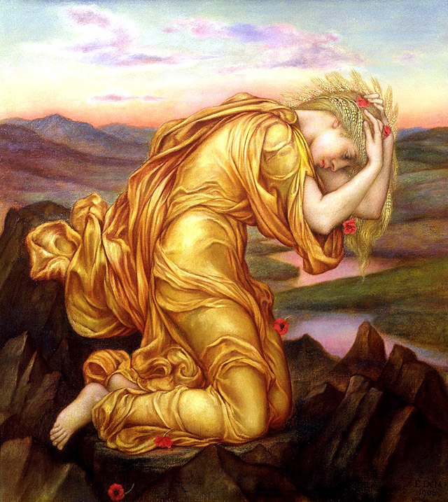 プロセルピナ(ペルセポネ)を失い悲しむケレス(デメテル)