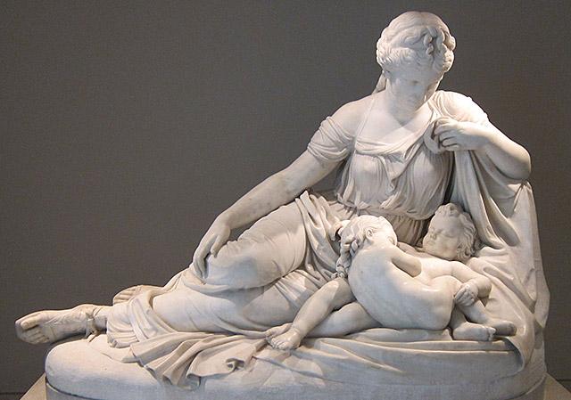女神ラトーナとその御子アポロンとディアナ