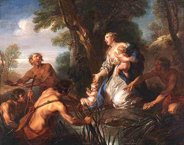 女神ラトーナとリュキアの農夫