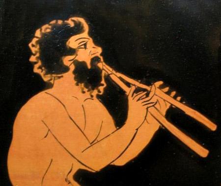 アウロスを吹くサチュロス