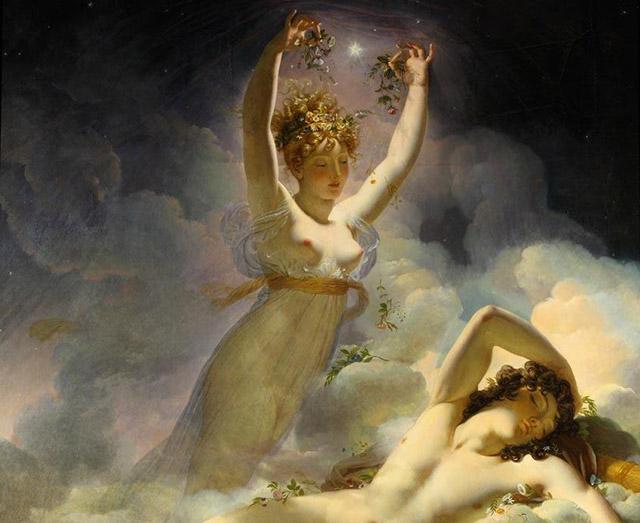 曙の女神アウロラとケパロス