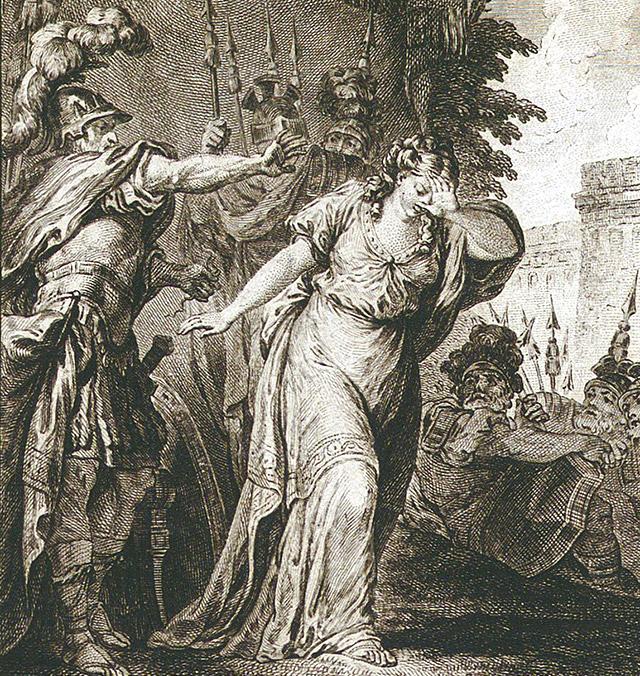 ミノス王に追い出されるスキュラ