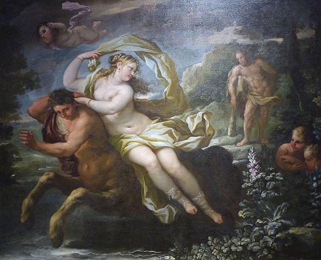 デイアネイラを略奪する半人半馬のネッソス